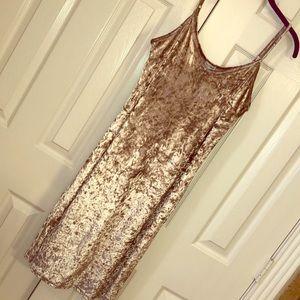 Lg Love Fire platinum cream velvet dress